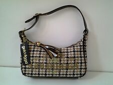 Golddigga Ladies Small Handbag Brown check