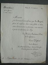 decoration of the Lily. Authorization to wear la decoration of the Lily. 1814