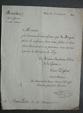 Décoration du LYS. Autorisation à porter la décoration du Lys. 1814