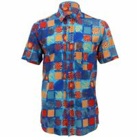 Mens Loud Shirt Retro Psychedelic Funky Party REGULAR Short Sleeve Abstract