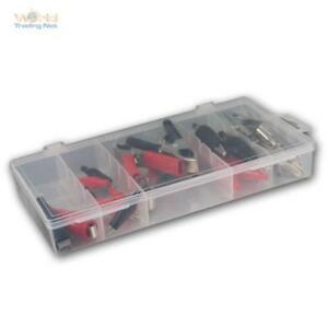 28-teilig Krokodilklemmen & Batterieklemmen Set Krokos Krokodil Klemme Sortiment