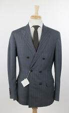 NWT BRUNELLO CUCINELLI Gray Striped Wool Double Breasted Suit 48/38 R $4530