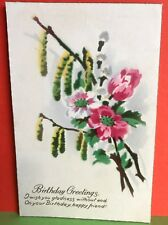 Cat Charity Auction Vintage Postcard Birthday Greetings