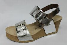 Sandals Mephisto Lissandra Leather Silver Wedge 6 CM List Price - 20%
