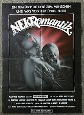 1988 NEKROMANTIK German movie poster SIGNED by Jorg Buttgereit~ 23x33