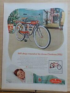 1953 magazine ad for AMF Roadmaster Bike - He'll always remember dream Christmas
