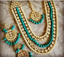 Indian Traditional Party Wear Women Kundan Necklace Earring Jewelry Set