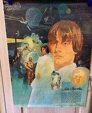 Vintage 1977 STAR WARS Coca Cola Burger Chef Advertising POSTER LUKE SKYWALKER