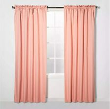 """ECLIPSE Braxton Thermaback Blackout Curtain Panels 42"""" x 63"""" Coral"""