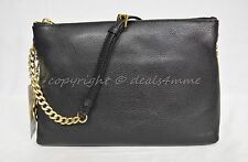 NWT MICHAEL Michael Kors Jet Set Leather Small Messenger Bag in Black 30S5GTCM3L
