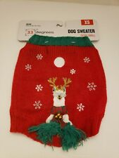 New listing 33 Degrees Red Dog Sweater with Llama Reindeer Size Xs New
