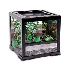 Penn Plax Reptology Classic Glass Terrarium 12x12x12 Inch