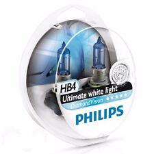 Philips HB4 DiamondVision Halogen 5000K White Light 9006DVS2 12V 55W P22d (Pair)
