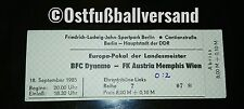 Ticket BFC Dynamo Berlin Austria Wien 18.09.1985 DDR Eintrittskarte Österreich
