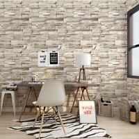 Self-Adhesive 3D Wall Sticker Brick Stone Faux Wallpaper Vinyl Room Home Decor