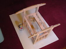Primitive Antique Wood Doll Cradle circa late 1930s 17 Inches high by 14 wide