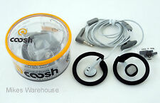 Coosh Stay-On Feel Good Headphones Black 3.5 mm Jack iPod MP3 New Free USA Ship