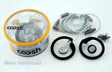 Coosh Stay-On Feel Good Headphones Black 3.5 mm Jack iPod MP3 New Free USA Ship