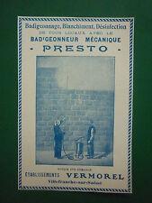 1932 PUB ETS VERMOREL VILLEFRANCE SUR SAONE BADIGEONNEUR MECANIQUE PRESTO AD