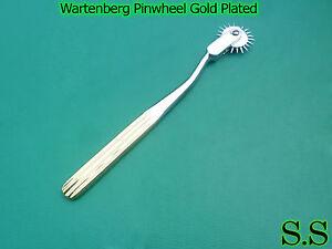 Gold Neurological Wartenberg Pinwheel Chrome Plated Good Quality