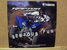 2007 YAMAHA RAPTOR 250 ATV QUAD four wheeler SALES DVD