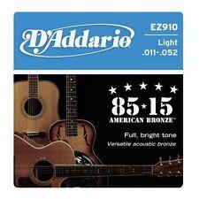 Juego de cuerdas guitarra acustica D'Addario EZ910 .011-.052