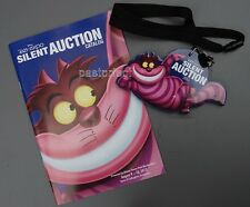 Disney D23 EXPO 2013 CHESHIRE CAT SILENT AUCTION CATALOG & LARGE MAGNET LANYARD
