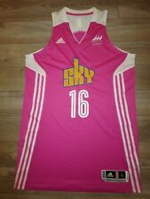 Chicago Sky #16 WNBA Pink Fight Cancer Night Basketball Game Adidas Jersey LG L