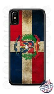 Dominican Republic Distressed Flag Phone Case For iPhone 11Pro Samsung S9 LG etc