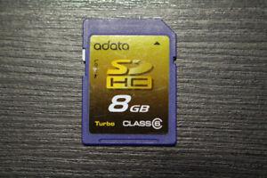 Adata 8GB Class 6 SDHC SD Card, for Camera etc