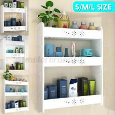 Bathroom Toilet Shelf Towel Organizer Home Storage Rack 2/3 Tiers Wall-mounted