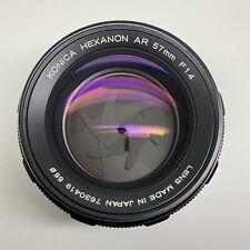 Konica Hexanon AR 50mm f1.4 Prime Portrait Camera Lens