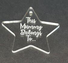 Taglio Laser & Incisione Personalizzata Acrilico Trasparente Perspex Star Natale