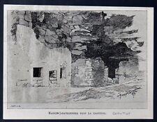 1895  --  CHANTILLY  MAISONS TROGLODITES ABANDONNEES   C068