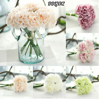 Artificial Silk Fake Flowers Peony 5 Head Bouquet Wedding Bridal Hydrangea Decor