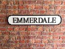 EMMERDALE Vintage Wood London Street Road Sign
