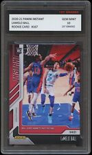 LAMELO BALL 2020-21 PANINI INSTANT 1ST GRADED 10 ROOKIE CARD CHARLOTTE HORNETS