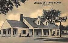 Effingham Illinois Greyhound Post House Street View Vintage Postcard K38172