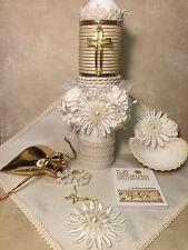 Baptism Candle Set- Juego de Vela de Bautizo - Bautismo - christening set