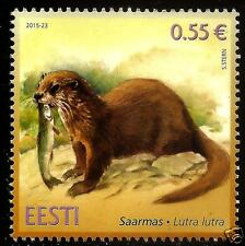 Estonia 2015 Estonian ANIMAL fauna - otter AND FISH MNH