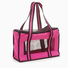 Accessoires animaux : sac / cage de transport pour petit chien ou chat - rose
