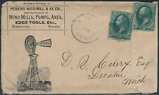 "1888 #213 ON LARGE ""WINDMILL"" ADVT COVER ANDREW J CORCORAN VERY SCARCE BS1523"