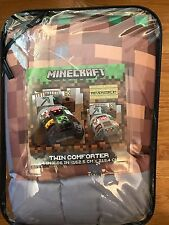 MineCraft Good vs Evil Comforter only, Twin, brand new in packaging