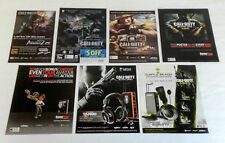 collection of 7 CALL OF DUTY video game ads