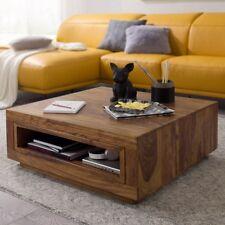 Massiver Couchtisch Holz Sheesham Wohnzimmertisch Ablage Design Tisch Massiv