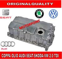 COPPA OLIO MOTORE CON FORO SENSORE AUDI SEAT SKODA 1.9 2.0 TDI 16V ALLUMINIO