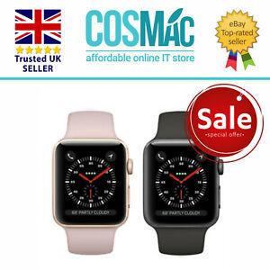 Apple Watch Series 3 GPS 38mm Gris Espacial Aluminio Funda Con Negro Sport Banda