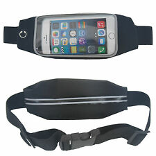 Eurotshirts Euro Mobile Phone Belt Bum Bag Travel Jogging - Black