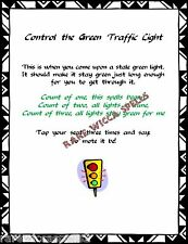 Control Traffic Light Spell 1pg fr Wicca Book of Shadows Pagan Witchcraft Ritual