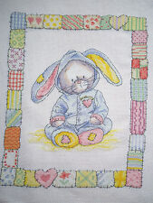 Bunny - Sleep Time FINISHED COMPLETED CROSS STITCH (135-1015)